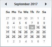 BlackOut dates