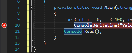 Visual Studio Breakpoint Avansat