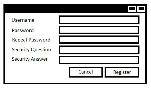 C# register account window