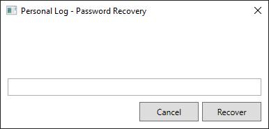 XAML Password recovery window