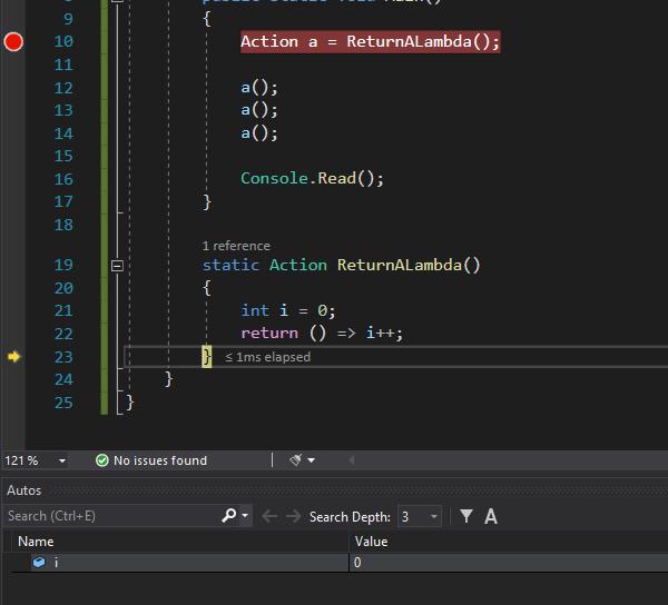 Closure in C#