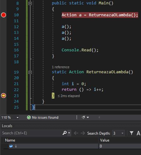 Closure în C#