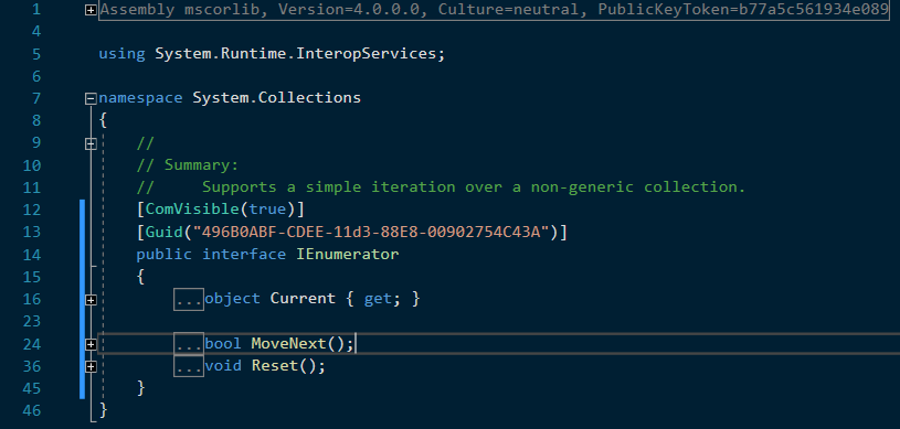 C# non-generic version of IEnumerator