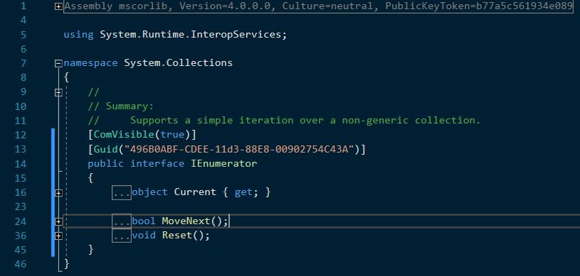 C# versiunea non-generică a IEnumerator