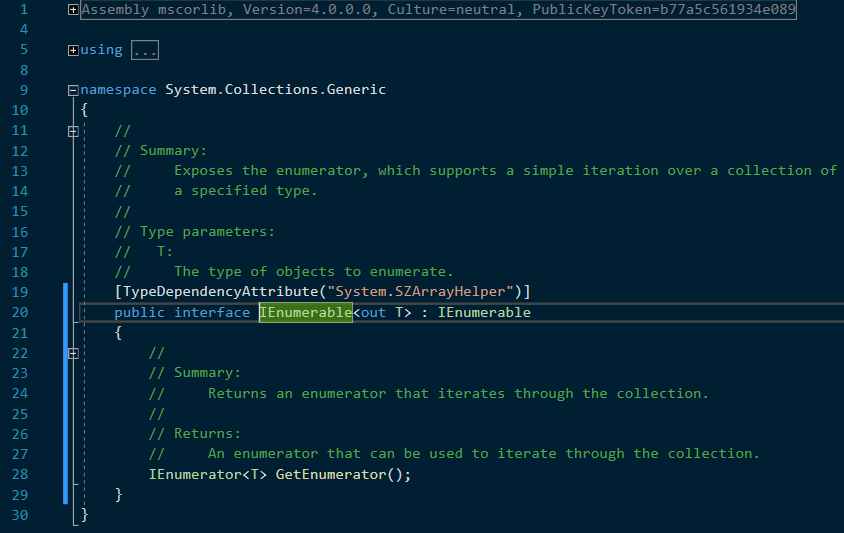 C# definition of IEnumerable
