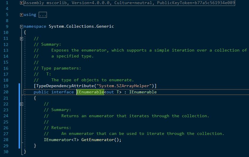 C# definiția IEnumerable