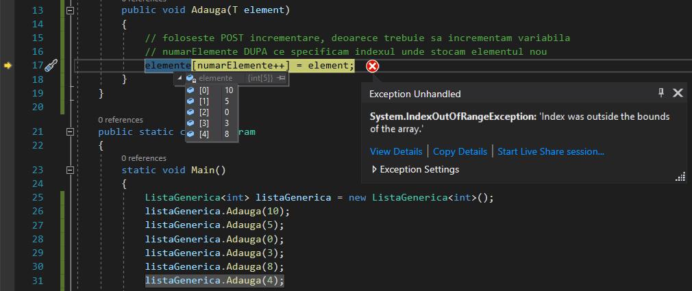 C# array IndexOutOfRangeException