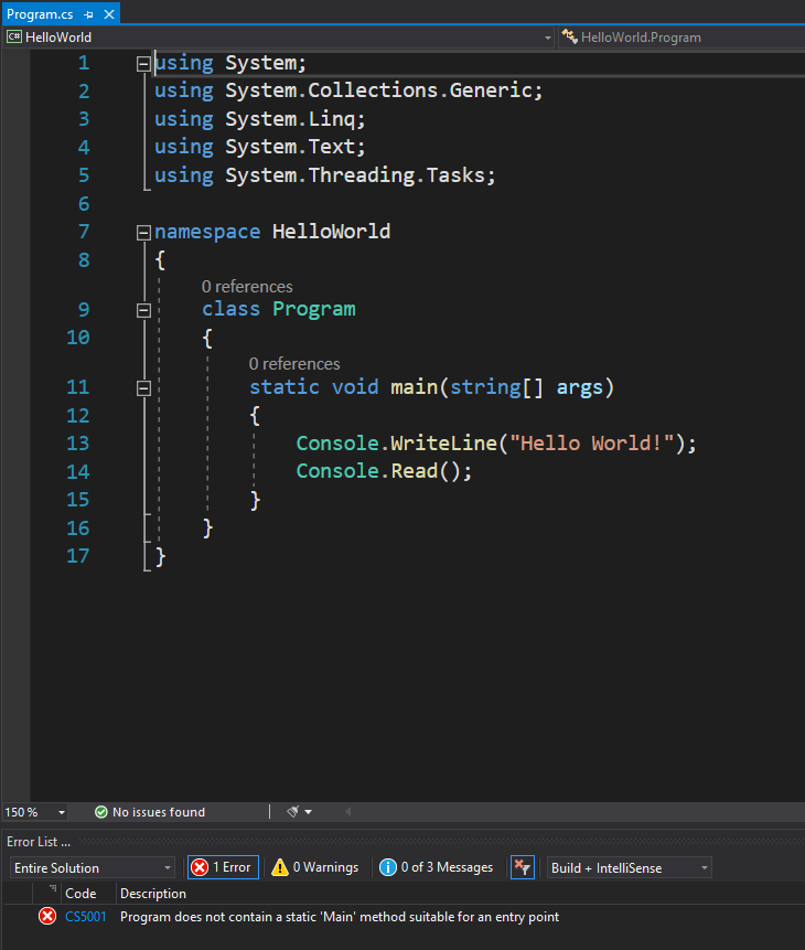 C# differentiates between uppercase and lowecase
