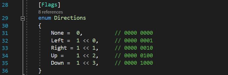 C# enum bit mask using bit shifting